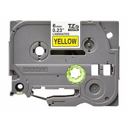BROTHER TZE611 tape black/yellow 6mm 8m