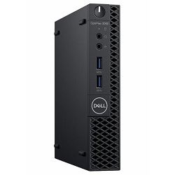 Dell OptiPlex 3060 Micro - Intel i3-8100T 3.6GHz / 4GB RAM / SSD 128GB / WLAN / Intel UHD 630 / Windows 10 Pro / Dell USB keyboard & mouse