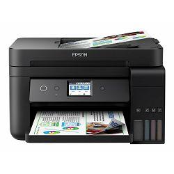 Epson EcoTank ITS L6190 - Multifunction printer - colour - ink-jet - A4/Legal (media) - up to 15 ppm (printing) - 150 sheets - 33.6 Kbps - USB, LAN, Wi-Fi, C11CG19402