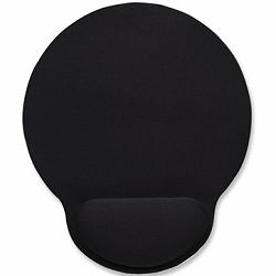 Wrist-Rest Mouse Pad, Gel material promotes proper hand and wrist position, Black
