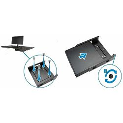 Dell Optiplex Micro Vesa Mount - For mounting the Optiplex MFF chassis under a table, desk or wall mounting