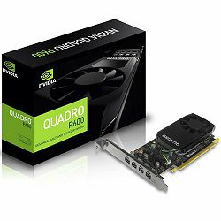 NVIDIA Video Card Quadro P600 GDDR5 2GB/128bit, 384 CUDA  Cores, PCI-E 3.0 x16, 4xminiDP, Cooler, Single Slot, Low Profile (4xmDP-DP Cables, Full Size and Low Profile Bracket incuded)