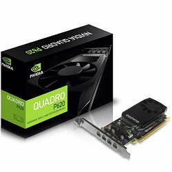 NVIDIA Video Card Quadro P620 GDDR5 2GB/128bit, 512 CUDA Cores, PCI-E 3.0 x16, 4xminiDP, Cooler, Single Slot, Low Profile (2xmDP-DP Cables, Full Size and Low Profile Bracket included)