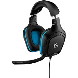 LOGITECH G432 7.1 Surround Sound Wired Gaming Headset - LEATHERETTE - USB - EMEA