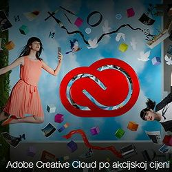 Adobe Creative Cloud All Apps (ex. Creative Cloud for teams) 1-godišnja pretplata - samo postojeći korisnici Creative Suite 3 i novijih CS verzija softvera  - AKCIJA!