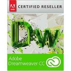 Adobe Dreamweaver for teams CC Creative Cloud, WIN/MAC, 1-godišnja pretplata