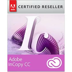 Adobe InCopy CC Creative Cloud, WIN/MAC, 1-godišnja pretplata