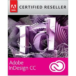 Adobe InDesign CC Creative Cloud, WIN/MAC, 1-godišnja pretplata