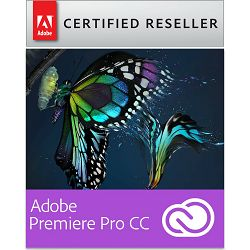 Adobe Premiere Pro CC Creative Cloud, WIN/MAC, 1-godišnja pretplata