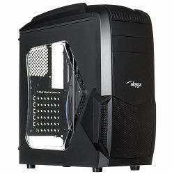 Case Midi ATX Case Midi Gamer ATX Akyga AKY011BG USB 3.0 gamer plexi window w/o PSU + card reader SD / MMC / TF