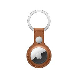 Apple AirTag Leather Key Ring - Saddle Brown, mx4m2zm/a