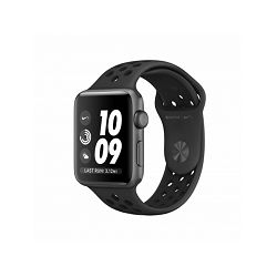 Apple Watch Nike+ Series 3 GPS, 42mm Space Grey Aluminium Case with Anthracite/Black Nike Sport Band, mtf42mp/a