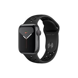 Apple Watch Nike Series 5 GPS, 40mm Space Grey Aluminium Case with Anthracite/Black Nike Sport Band, mx3t2vr/a