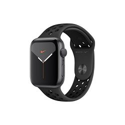 Apple Watch Nike Series 5 GPS, 44mm Space Grey Aluminium Case with Anthracite/Black Nike Sport Band - S/M & M/L, mx3w2vr/a