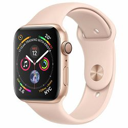 Apple Watch Series 4 GPS, 40mm Gold Aluminium Case with Pink Sand Sport Band, mu682vr/a
