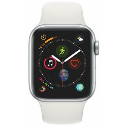 Apple Watch Series 4 GPS, 40mm Silver Aluminium Case with White Sport Band, mu642vr/a