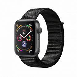 Apple Watch Series 4 GPS, 40mm Space Grey Aluminium Case with Black Sport Loop, mu672vr/a
