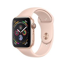 Apple Watch Series 4 GPS, 44mm Gold Aluminium Case with Pink Sand Sport Band, mu6f2vr/a