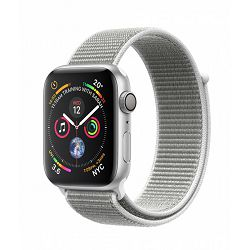 Apple Watch Series 4 GPS, 44mm Silver Aluminium Case with Seashell Sport Loop, mu6c2vr/a