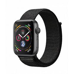 Apple Watch Series 4 GPS, 44mm Space Grey Aluminium Case with Black Sport Loop, mu6e2vr/a