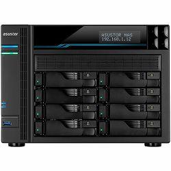 ASUSTOR Tower Lockerstor8 - 8 Bay NAS Intel ATOM C3538 Quad-Core, 8GB DDR4, 10GbE x 2, 2.5GbEx2, USB3.2Gen1x2, M.2 SSD (2280/2260/2242 SATA/PCIe SSD)x2, lockable tray, AES-NI HW encryption, MyArchive,
