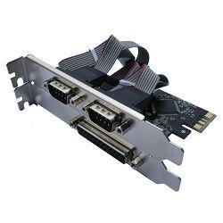 Asonic PCIE kont. 2xserial port i 1xparal.port