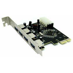 Asonic PCIE Card adapter 4porta USB3.0