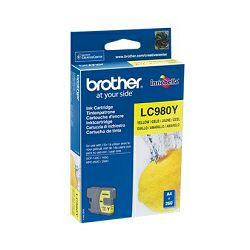 Brother LC980Y Yellow Ink Cartridge, LC980Y