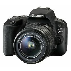 Canon EOS 200D + 18-55 DC III Black DSLR Digitalni fotoaparat i standardni zoom objektiv EF-S 18-55mm f/4-5.6