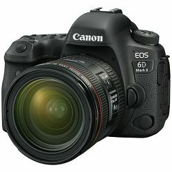 Canon EOS 6D Mark II + 24-70 f/4L IS USM DSLR Full Frame Digitalni fotoaparat i standardni zoom objektiv EF 24-70mm F4.0