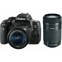 Canon EOS 750D + 18-55 IS STM IS STM + 55-250 IS DSLR digitalni fotoaparat s objektivima EF-S 18-55mm f/3.5-5.6 i 55-250mm 4-5.6