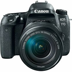 Canon EOS 77D + 18-135 IS USM NANO DSLR Camera with lens Digitalni fotoaparat i objektiv EF-S 18-135mm f/3.5-5.6 (AC1892C004AA)