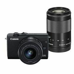 Canon EOS M200 crni+ EFM 15-45mm + 55-200mm