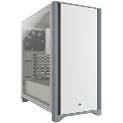CORSAIR 4000D Tempered Glass Mid-Tower ATX Case — White