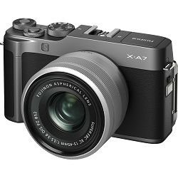 FUJIFILM X-A7 + XC 15-45mm Lens DARK SILVER