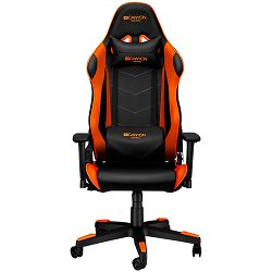 Canyon Gaming chair, PU leather, Original foam and Cold molded foam, Metal Frame, Butterfly mechanism, 90-165 dgree, 3D armrest, Class 4 gas lift, Nylon 5 Stars Base, 60mm PU caster, black+Orange.