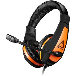 CANYON Gaming headset 3.5mm jack with adjustable microphone and volume control, cable 2M, Black