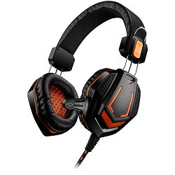 CANYON Gaming headset 3.5mm jack with microphone and volume control, with 2in1 3.5mm adapter, cable 2M, Black, 0.36kg
