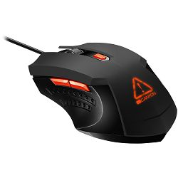 Canyon Optical Gaming Mouse with 6 programmable buttons, Pixart optical sensor, 4 levels of DPI and up to 3200, 3 million times key life, 1.65m PVC USB cable,rubber coating surface and colorful RGB