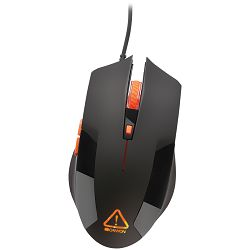 CANYON Optical gaming mouse, adjustable DPI setting 800/1200/1600/2400, LED backlight, Black