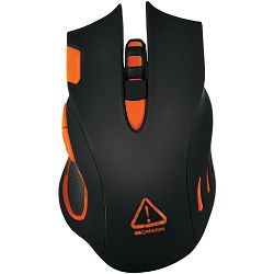 CANYON Optical gaming mouse, adjustable DPI setting 800/1600/2400/4800/6400, LED backlight, Black