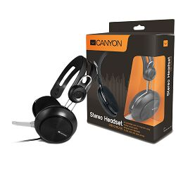 Canyon simple USB headset, inline remote, black