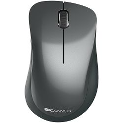 Canyon  2.4 GHz  Wireless mouse ,with 3 buttons, DPI 1200, Battery:AAA*2pcs,Black,67*109*38mm,0.063kg