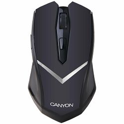 CANYON Mouse CNE-CMSW3 (Wireless, Optical 800/1280 dpi, 4 btn, USB, power saving technology), Black
