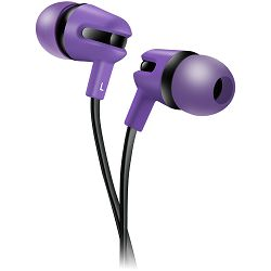 Canyon Stereo earphone with microphone, 1.2m flat cable, purple