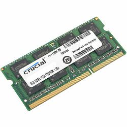Crucial RAM 8GB DDR3 1600 MT/s  (PC3-12800) CL11 SODIMM 204pin 1.35V/1.5V