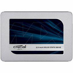 "CRUCIAL MX500 250GB SSD, 2.5"" 7mm (with 9.5mm adapter), SATA 6 Gbit/s, Read/Write: 560 MB/s / 510 MB/s, Random Read/Write IOPS 95K/90K"