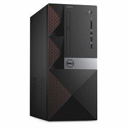 DELL Desktop Vostro 3668, Intel i5-7400 (6MB Cache, up to 3.50 GHz), 8GB DDR4 2400MHz, 256GB 2.5in SDD, Intel HD 630, DVDRW, WiFi, BT, VGA, HDMI, RJ-45, 2xUSB 3.0, 4xUSB 2.0, K+M, Linux, 3Y