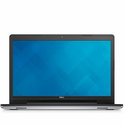 DELL Notebook Inspiron 5749 17.3 HD+ (1600 x 900), Intel Pentium 3805U (2M Cache, 1.90 GHz), 4GB, 500GB, Intel HD, DVDRW, WiFi, BT, Webcam, USB 3.0, 2xUSB2.0, HDMI, CR, WIN8.1, Silver, 3Y