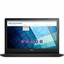 DELL Notebook Latitude 3560,15.6 HD(1366x768)Anti-glare, Intel i3-5005U(2.0Ghz,3MB cache),4GB DDR3L,500GB SATA 7.200,HD 5500,WiFi 802.11 2x2 AGN+BT 4.1,Cam,Mic,HDMI, VGA,USB2.0,2xUSB3.0,RJ-45,CR,TPM